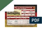 Team Yankee - Unit Card - Volksarmee - BTR-60 Mot-Schützenkompanie - Heavy Weapons
