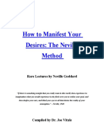 How to Manifest Your Desires the Neville Method - Rare Lectures