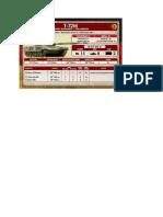 Team Yankee - Unit Card - Volksarmee - T-72M Panzerkompanie
