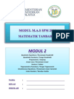 Modul 2 Add Maths 2016 (Jppp)