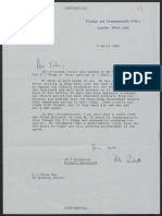 Letter to Margaret Thatcher