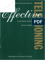 Effective Telephoning Teacher's Book by Comfort J.