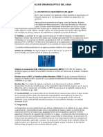 Analisis Organoleptico Del Agua