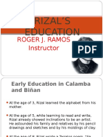 4. Rizal's Education