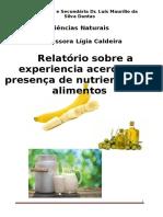 Ciências - Descobrir Alimentos - 25.11.2016