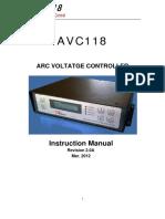 Ontime THC AVC118 Manual