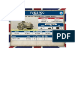 Team Yankee - Unit Card - GB - FV432 FOO