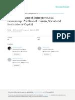 Development of Entrepreneurial Leadership