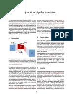 Heterojunction Bipolar Transistor