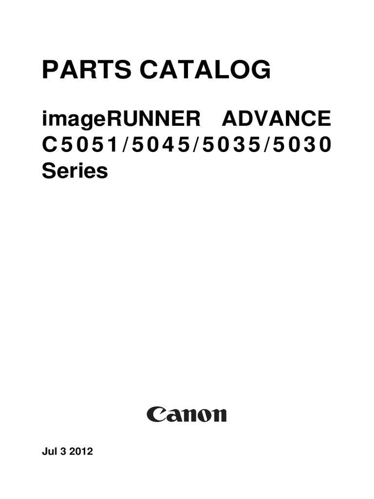 Canon ImageRunner C5015-5045-5035-5030 Series Part Catalog