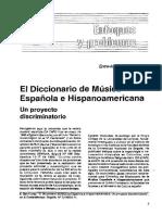 El Diccionario de Musica Española e Iberoamericana
