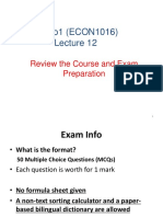 Lecture12 Econ1016 Review