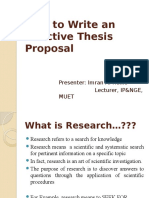 Thesis Proposal for 14 Batch