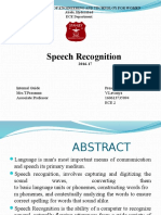 Ppt on Speech Recognition