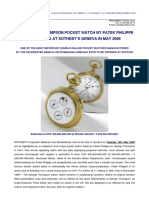 Patek Philippe  - George Thompson pocket watch (No. 174 480)