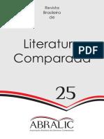 Revista Brasileira de Literatura Comparada, v. 25, 2014