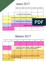 CALENDARIO DE ACTIVIDADES TEGP 2ºD (A). ENERO-MAYO 2017