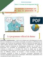 Correction Du Thème 311 - La Croissance Économique Est-elle Compatible avec la préservation de l'environnement ?