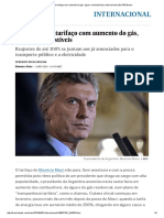 Macri Conclui Tarifaço Com Aumento Do Gás, Água e Combustíveis _ Internacional _ EL PAÍS Brasil