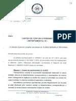 Adresa de răspuns a SRI, din 29 Decembrie 2015, trimisă Curţii de Conturi