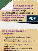 Kerjasama Malaysia Dengan Negara-negara Perindustrian Amat Mustahak