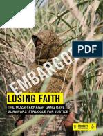 Amnesty International India Report on Gangrape Survivors of Muzafarnagar 2013 Riots