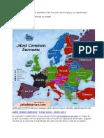 El Mapa Que Muestra Los Apellidos Más Comunes de Europa