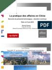 La pratique des affaires en Chine