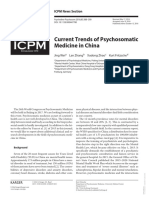 Current Trends of Psychosomatic Medicine in China
