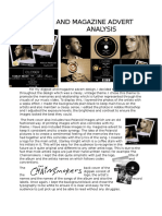 Digipak and Magzine Advert Analysis