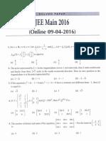 Jee Mains - 2016 - Mathematics (1)