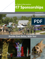 Sponsorship Opportunities - Boulder Parks and Recreation 2017