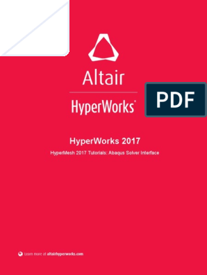 HyperMesh 2017 Tutorials Abaqus Solver Interface   Graphical User
