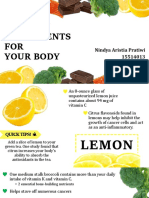 PPT Individu - Healthy Ingredients