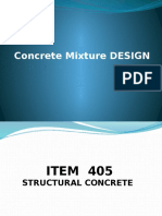 Design of the Concrete Mixture..Final