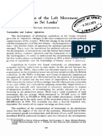 Origin of the left Movement in Sri Lanka - Kumari Jayawardana