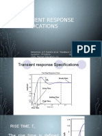Transient Response Specifications