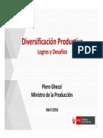Diversificación Productiva Perú 2016