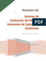 Evaluacion Modelo SALUD