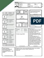 Character Sheet - Alternative - Tabaxi Monk