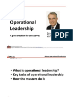 Operational Leadership