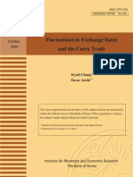 Fluctuations in Exchange Rates and the Carry Trade