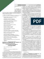 Modifican el Reglamento del Registro de Mancomunidades Regionales