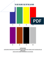 Tarjetas de Colores Del Test de Luscher