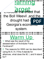 drought and boll weevil