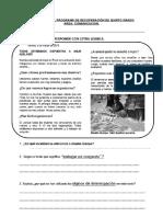 Evaluacion Del Programa de Recuperación de Quinto Grado