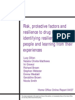 Risk, protective factors and resilience to drug use