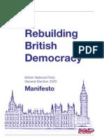 BNP General Election Manifesto 2005