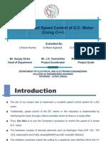 Dc Motor Speed Control Using C++