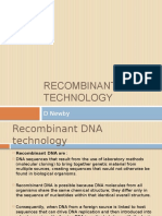 Recombinant DNA Technology Final